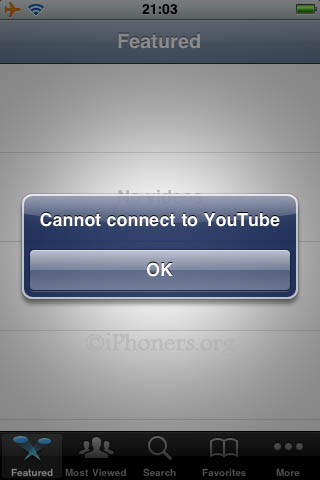 Cannot connect to YouTube