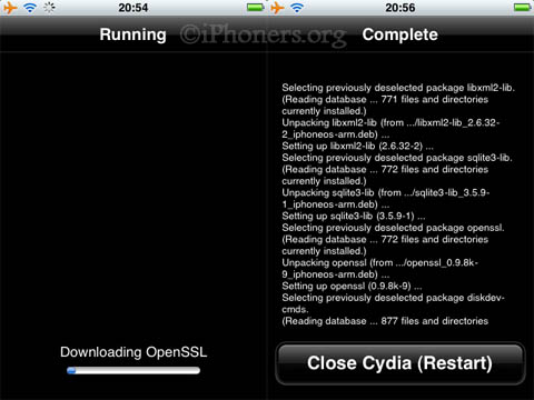 Cydia upgrade process