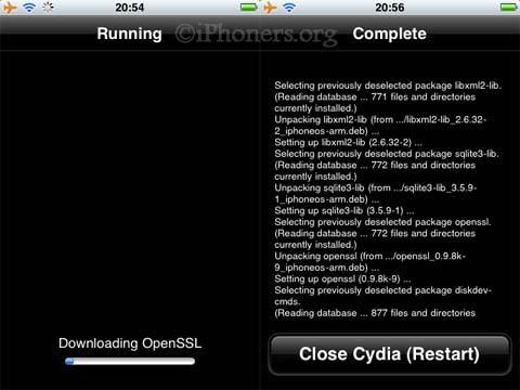 Cydia upgrade process
