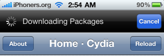 Cydia downloading packages