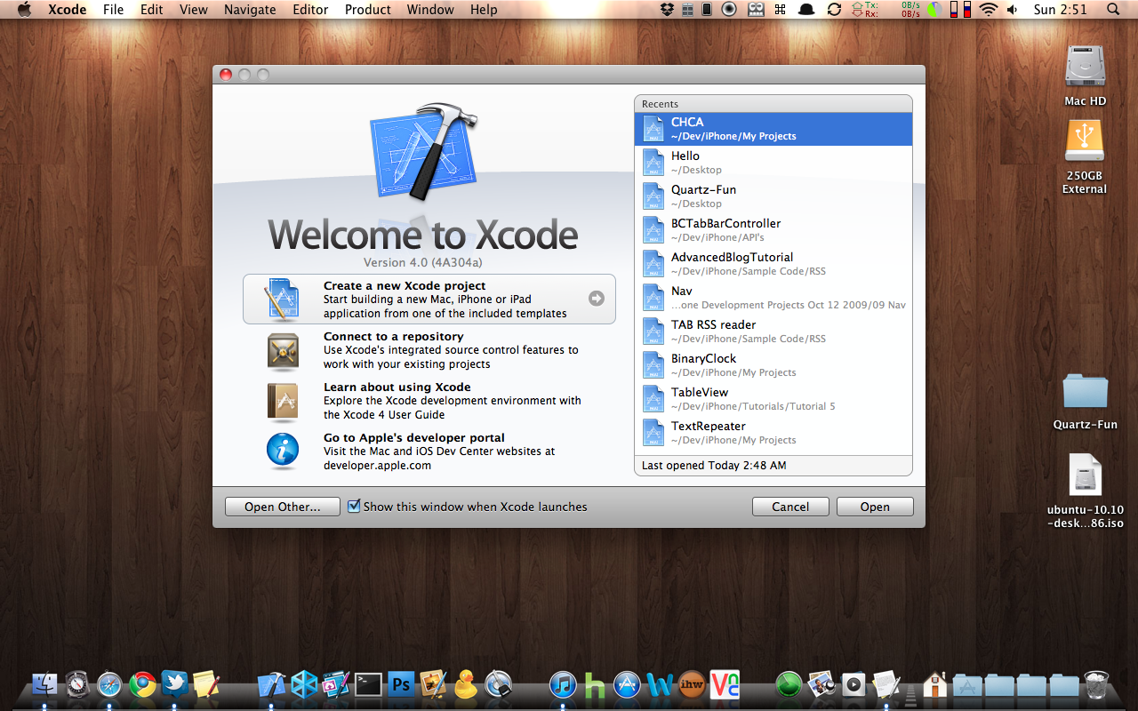 As you can see Xcode 4 is