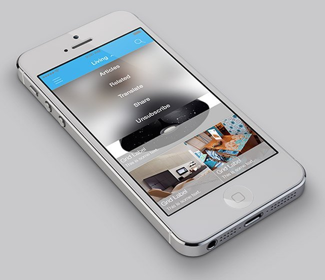6 professional iOS7 app design templates - What\'s On Iphone