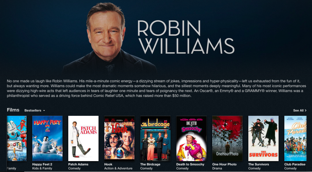 Good Morning Vietnam Itunes : Apple pays tribute to robin williams what s on iphone