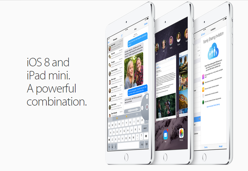 iPad Mini 3 - iOS 8