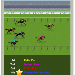 Horse race in New Star Soccer