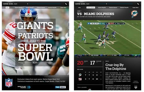 Super Bowl XLVI Commemorative App for iPad