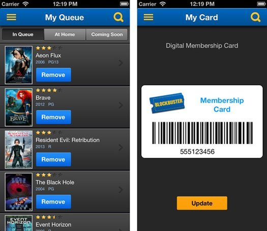 new ios app by blockbuster makes movie renting more mobile
