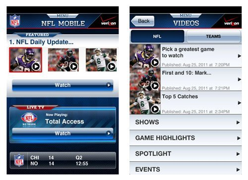 NFL Mobile for iPhone