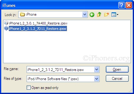 How-to do Shift + Restore iTunes - What's On Iphone