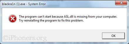 ASL.dll is missing from you computer