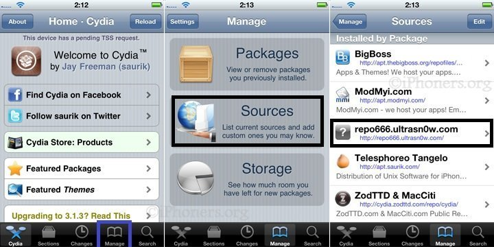 Cydia Sources ultrasn0w