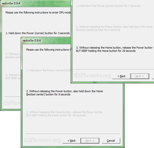 redsn0w 0.9.4 put DFU mode
