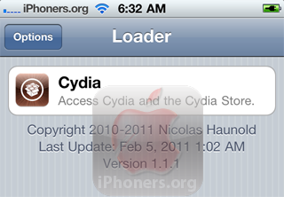 Loader app Cydia
