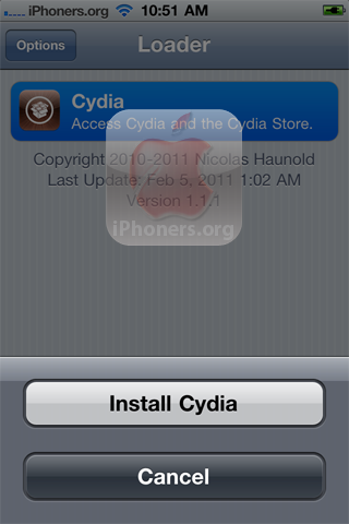 Install Cydia in Loader app