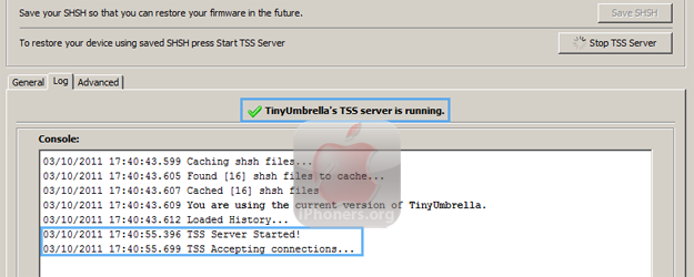 TinyUmbrella TSS Server Running