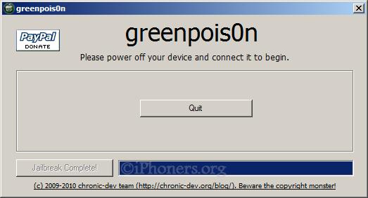 greenpois0n jailbreak complete