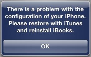 iBooks error please reinstall