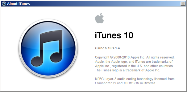 Download iTunes 10.1.1.4