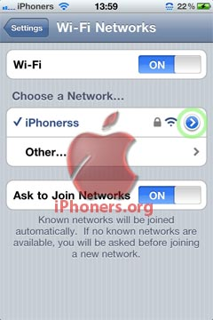 Wifi Blue Icon iPhone