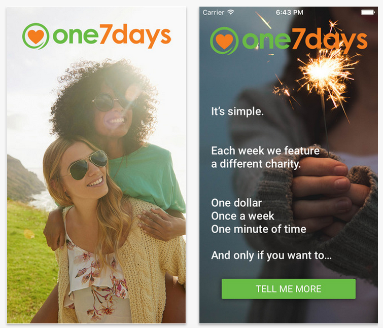 one7days Review – Donating Money, One Dollar A Week, Every Week
