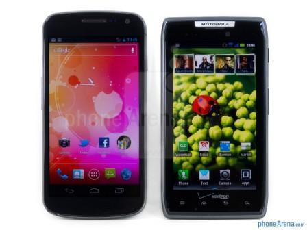 Galaxy Nexus Vs Motorola Droid RAZR