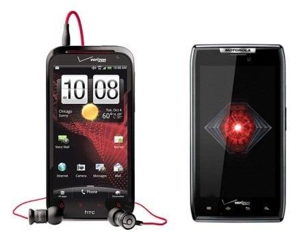 HTC Rezound Vs Motorola Droid RAZR